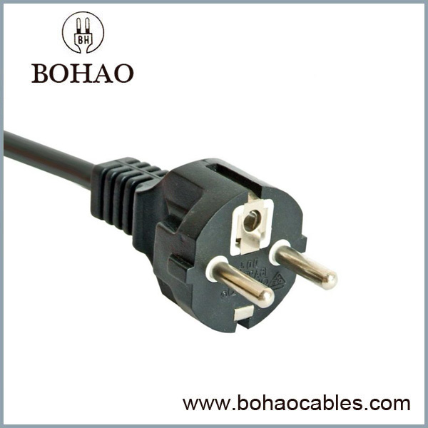 Europe 16A Staight 3 Wire CEE7/7 IP44 Waterproof Power Cord
