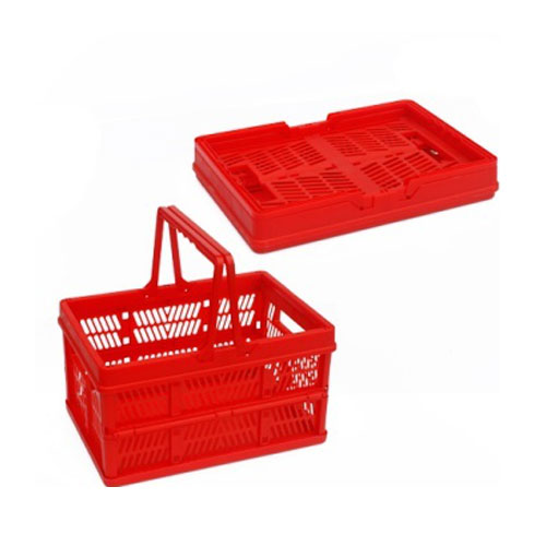 Convenient Plastic Folding Basket for Shopping