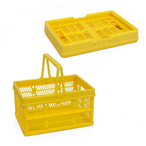 Foldable Kitchen Food Fruit Bread Cutlery Folding Plastic Basket