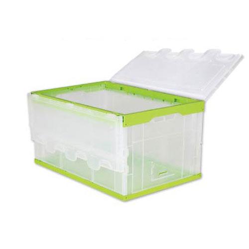 hopfällbar plast resväska bulk härdad plast behållare för lagring med sida dörr
