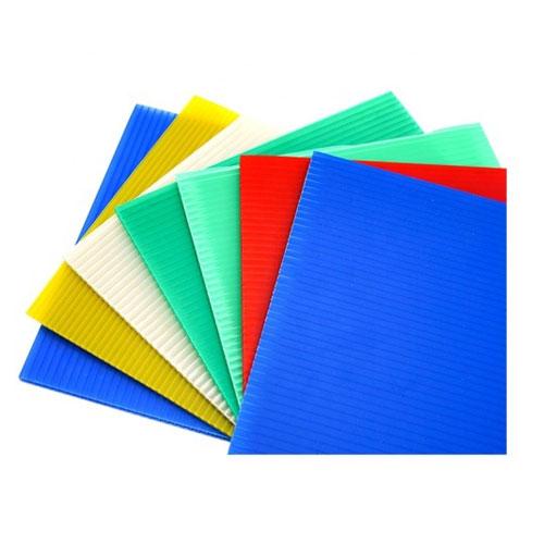 PP Қуыс Парақ түрлі-түсті Гофрленген Пластикалық басып шығару қуыс парақ