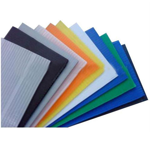 Corrugated plastic mail trays polypropylene core flute sheet board sheets