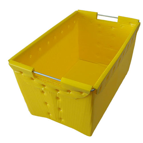 Folding polypropylene hollow storage PP corrugated plastic boxes for fruits and vegetables