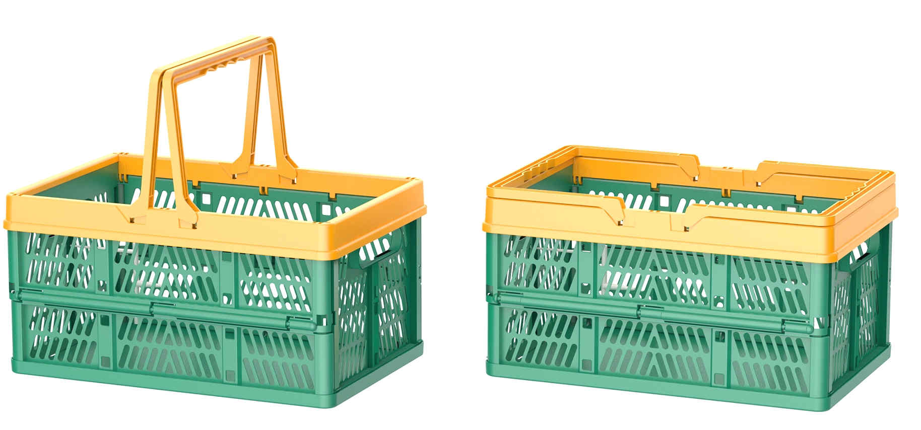 2020 new plastic Folding shopping basket with handles