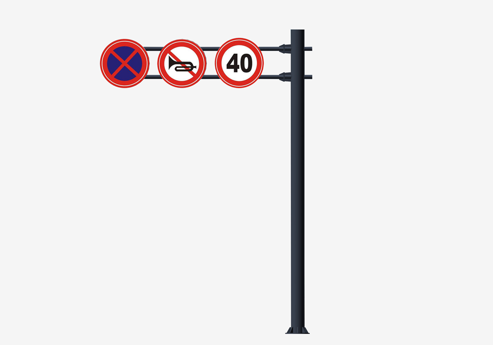 Octagonal Galvanized Road Traffic Sign Pole