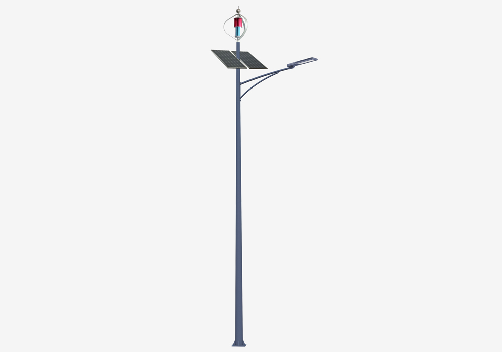 LED lys vind sol hybrid gade lys