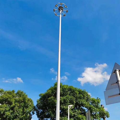What are the calculations for the construction data of solar high-pole lamps?