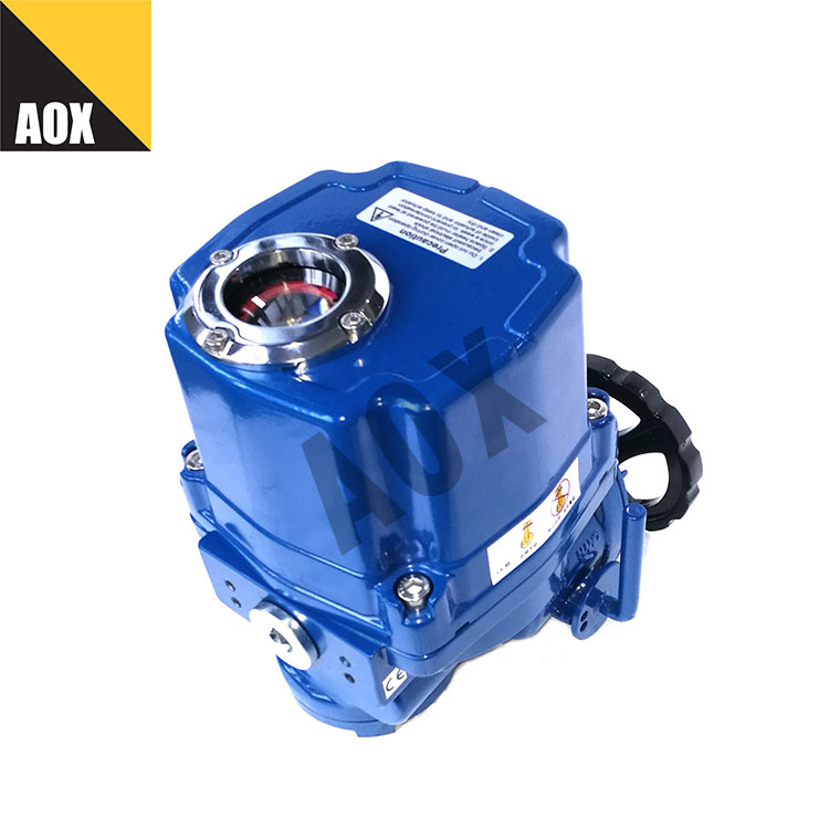 Explosion proof part turn electric actuator