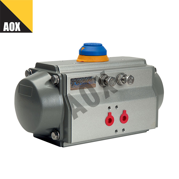 Industrial double acting pneumatic actuator