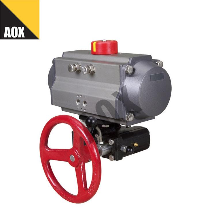 Compact double acting pneumatic actuator