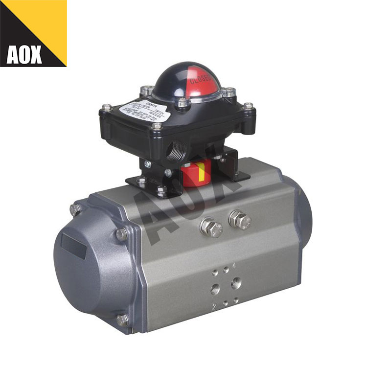 Small double acting pneumatic rotary actuator