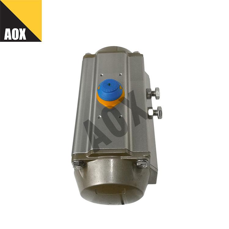 မြင့်သော အရှိန် တခုတည်းသော သရုပ်ဆောင် pneumatic rotary actuator
