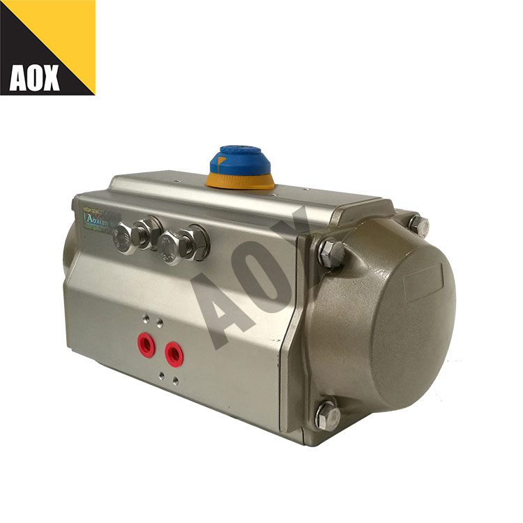 Small single acting pneumatic rotary actuator