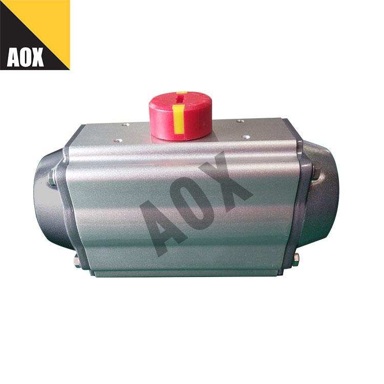 Rack and pinion spring return pneumatic actuator