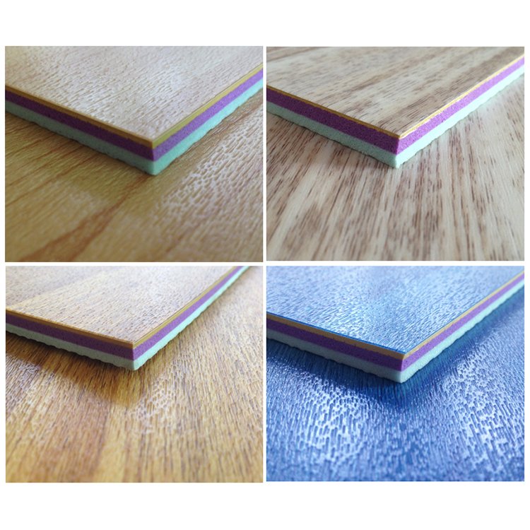 4.5mm To 12mm Synthetic Basketball Court Wood Color Pvc Sports Flooring