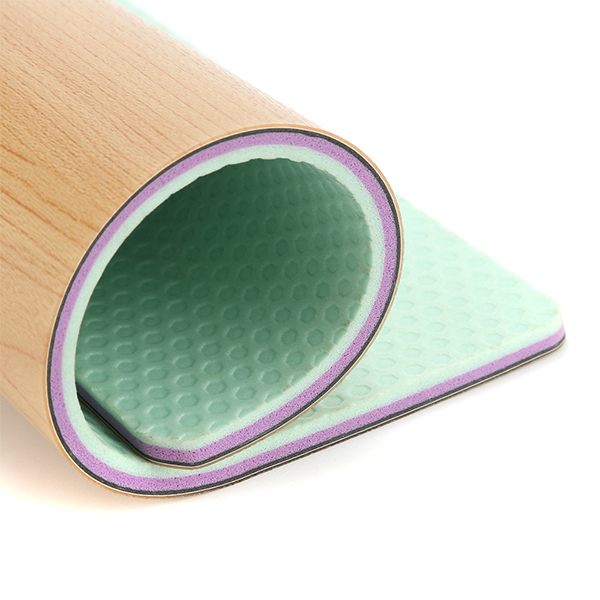 ພື້ນໄມ້ 8mm Anti Skidding Waterproof Wood ສີ Gymnasium Vinyl Sport Flooring