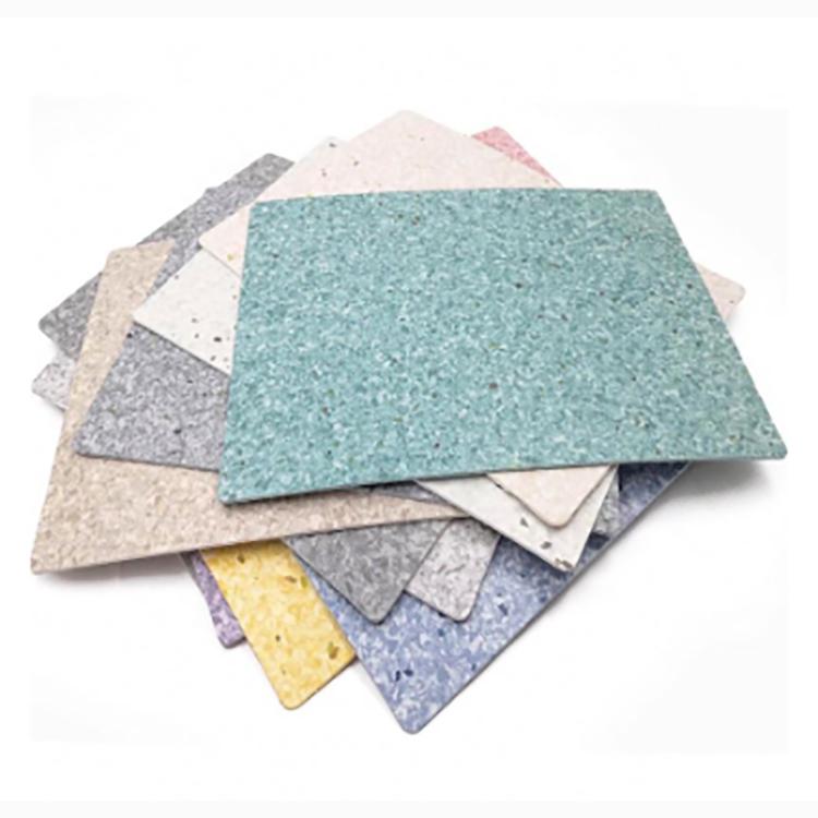 Non-directional Antibacterial Homogeneous Commercial Vinyl Flooring