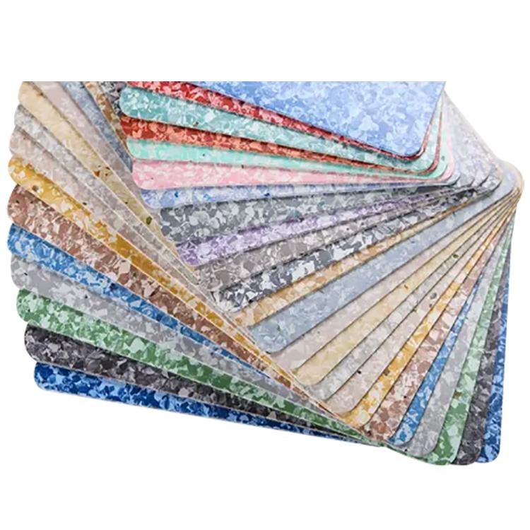 २ मिमिदेखि 5 एमएम मोटाई रंगीन फ्लैट सतह एन्टिस्किडिंग पोशाक प्रतिरोधी पीवीसी वाणिज्यिक फर्श