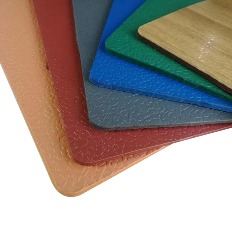Wood Color Surface Outdoor Waterproof Uv Resistant PVC Sports Flooring