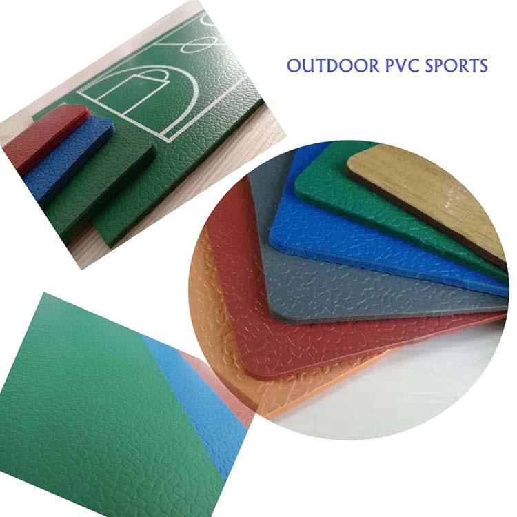 Outdoor Pvc-põrandaga tenniseväljak ja sulgpalli kattega põrandakate