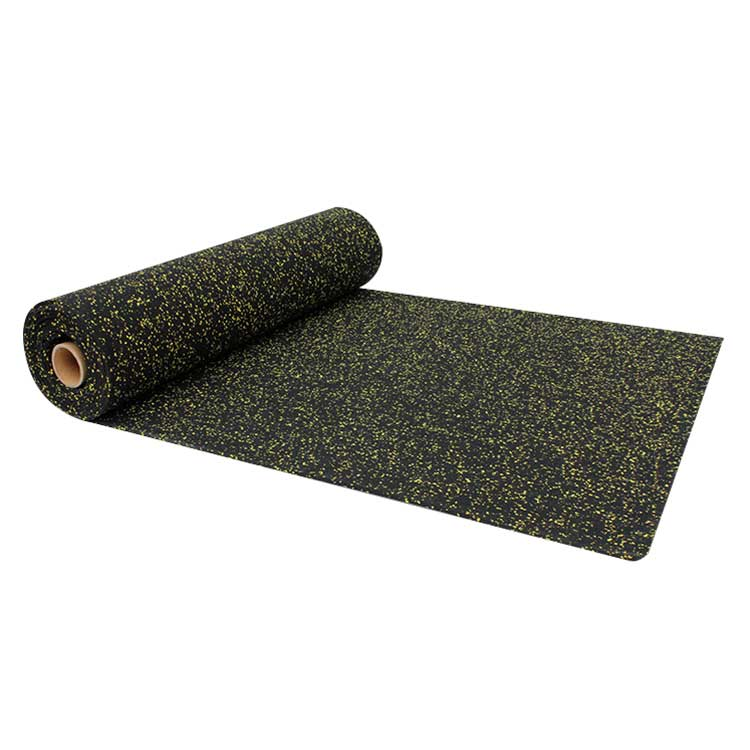 Fire Resistance Rubber floor in rolls For Fitness