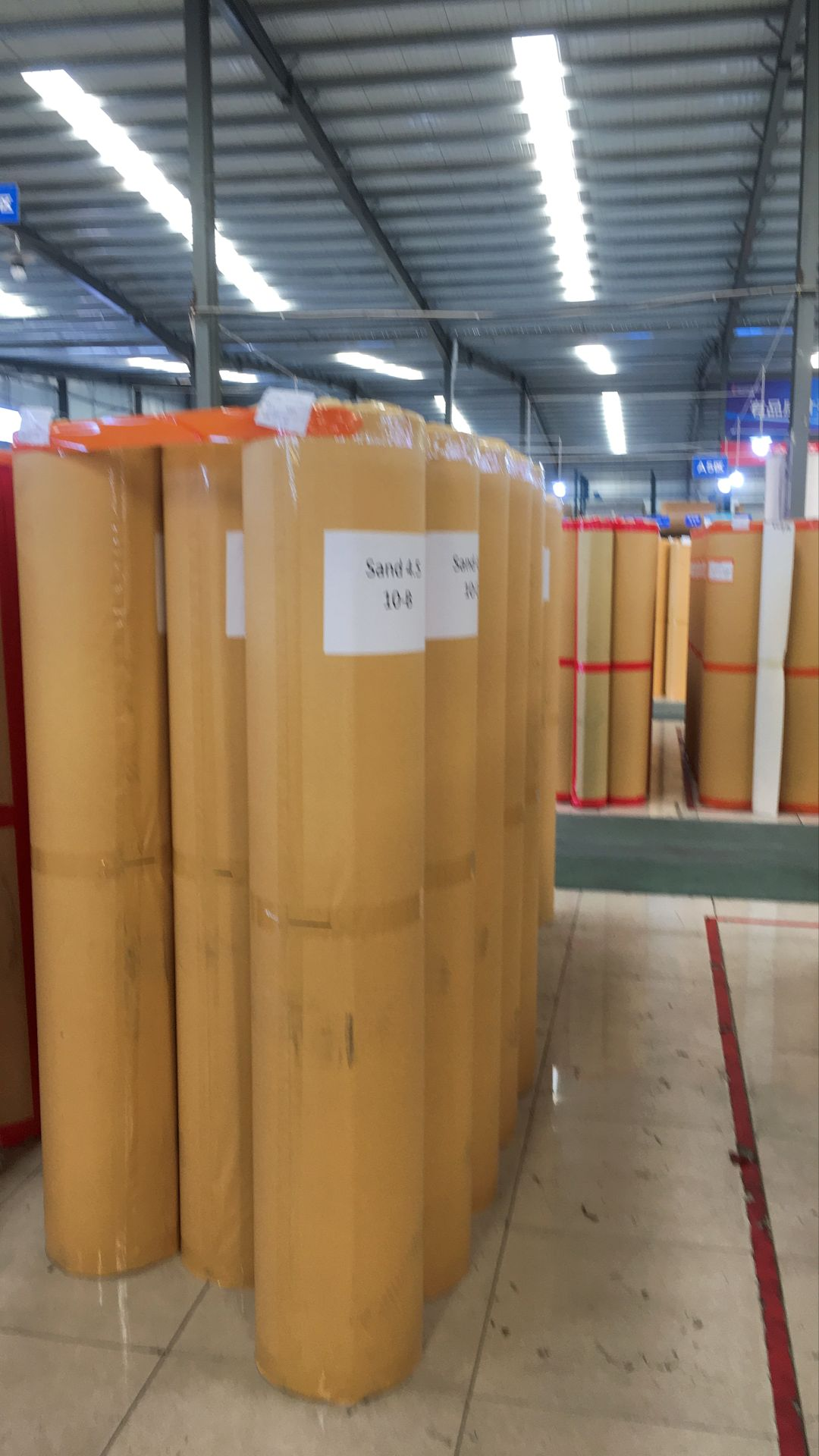 New shipment of badminton court mats is ready for delivery to Chennai/India warehouse