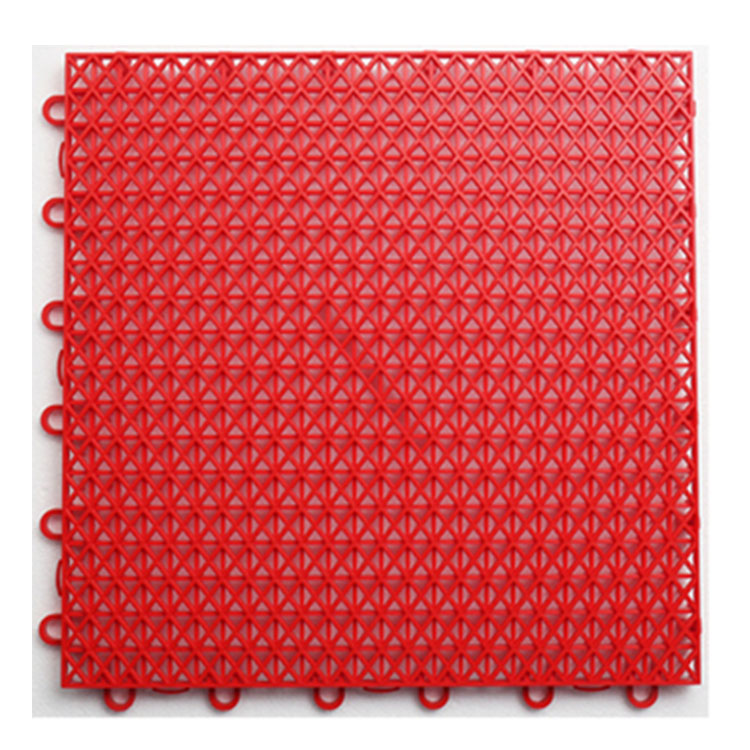 Safe Anti Slip Outdoor Plastic Interlocking Removable Sports Flooring Tile