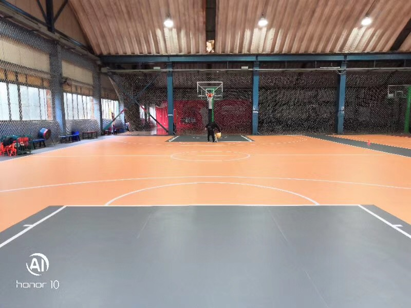 Best choice for the volleyball floor surface  alt=