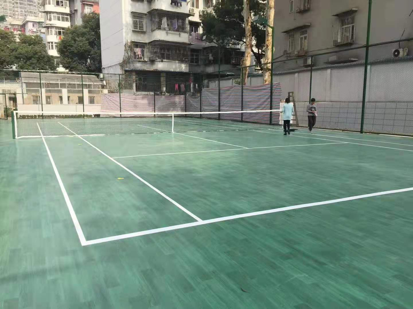 5.0mm Colorful Stone Surface For Outdoor Basketball Courts