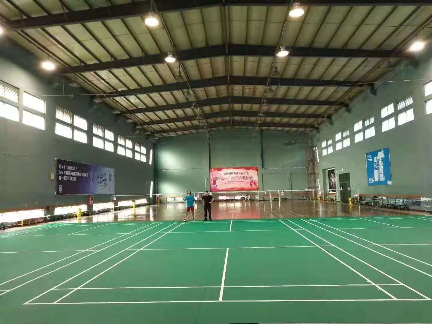 synthetic surfaces are ideal for badminton courts at professional standard level
