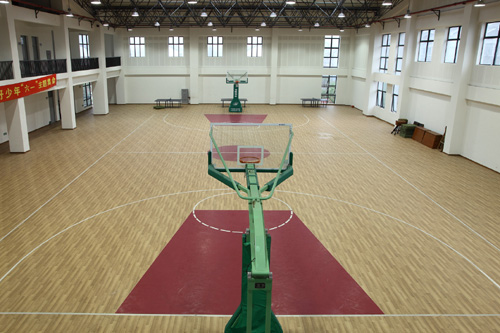 Excellent Shock absorber basketball pvc sports flooring