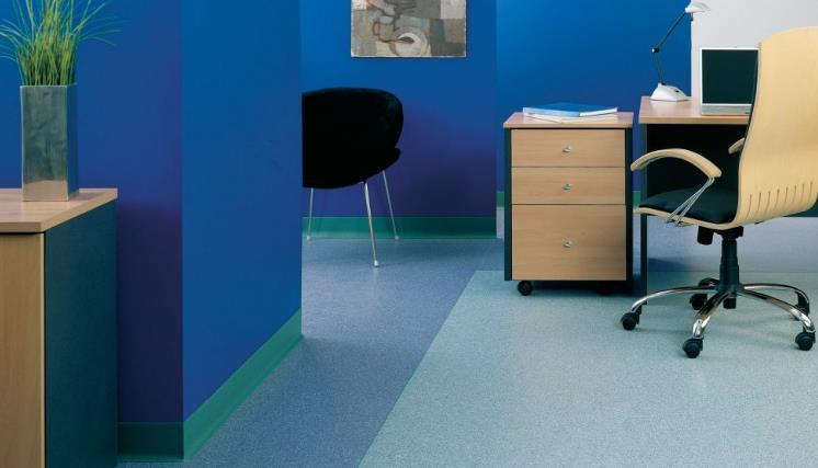 homogeneous vinyl floor