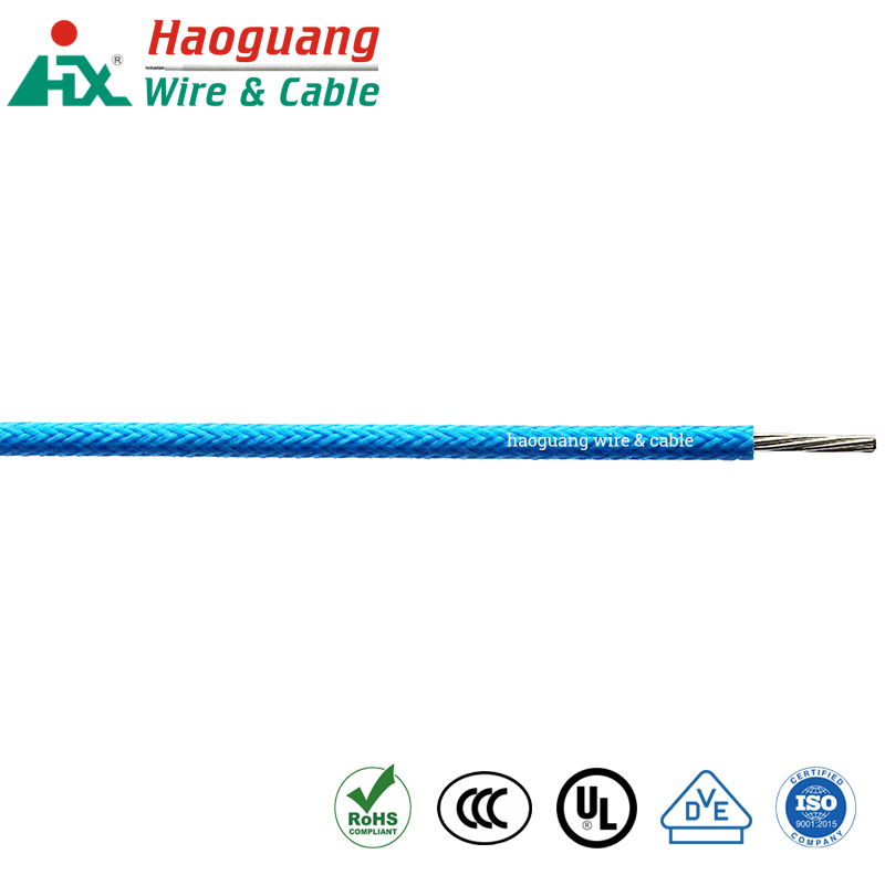 60245 IEC-03 Silicone Rubber Braided High Temperature Hook-up Wire