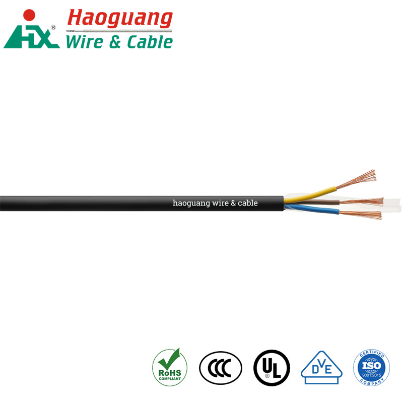 Kepatuhan CPR Kabel Fleksibel Multi Core PVC H05VV-F