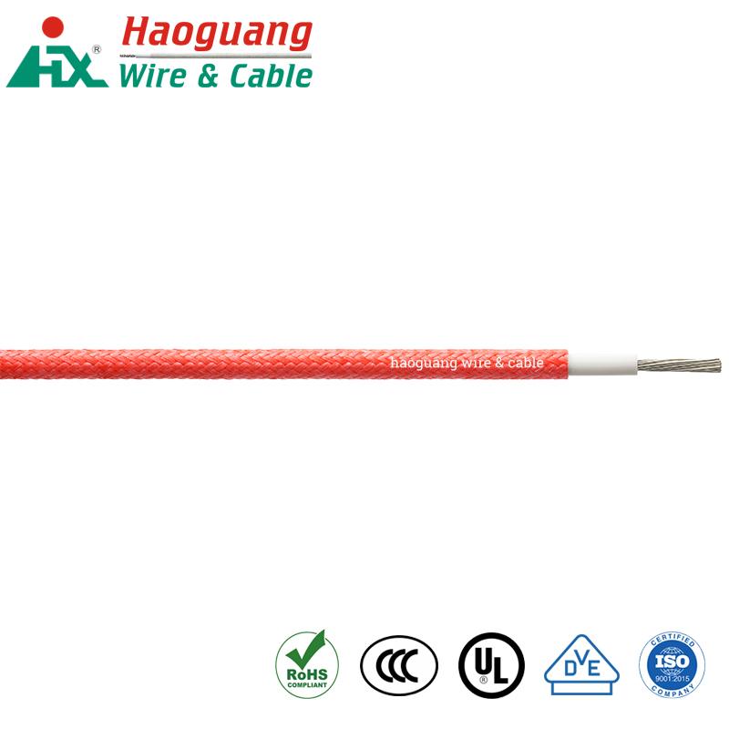 Heat Resistant VDE H05SJ-K Fibre Braided Rubber Single Core Cable