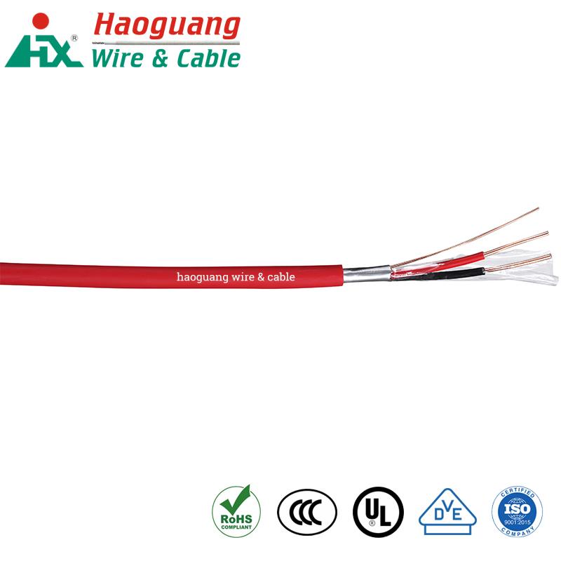 Siqnal sistemləri üçün qırmızı ağ LSZH yanğın siqnalizasiya kabeli yanmaz