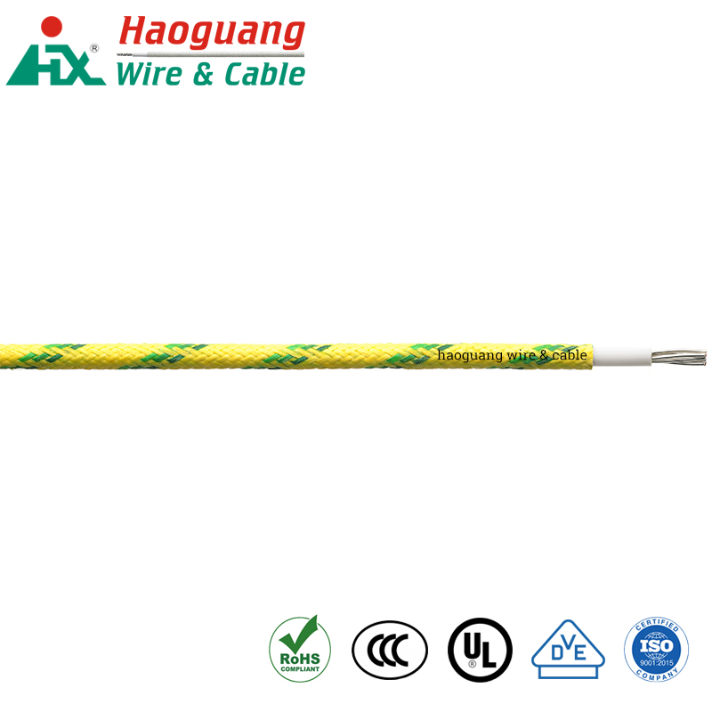 UL 3122 Fiber Braided Silicone Rubber Single Core Cable for Lighting