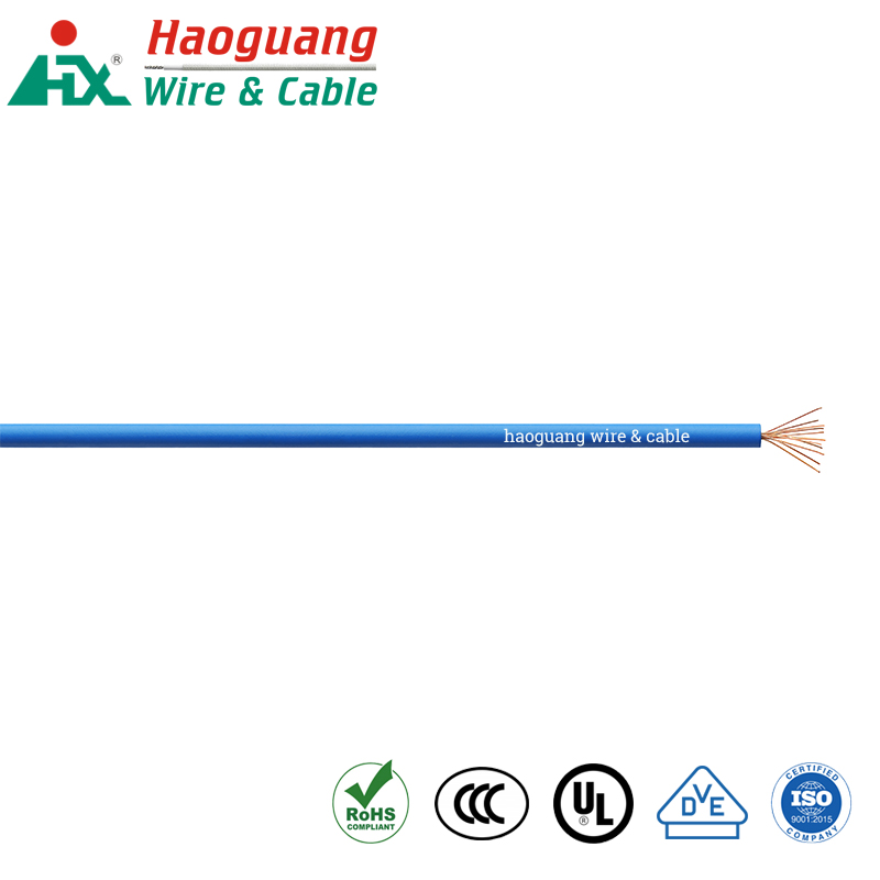 UL AWM 1007 PVC berisolasi RoHS Single Core Cable Hook-up