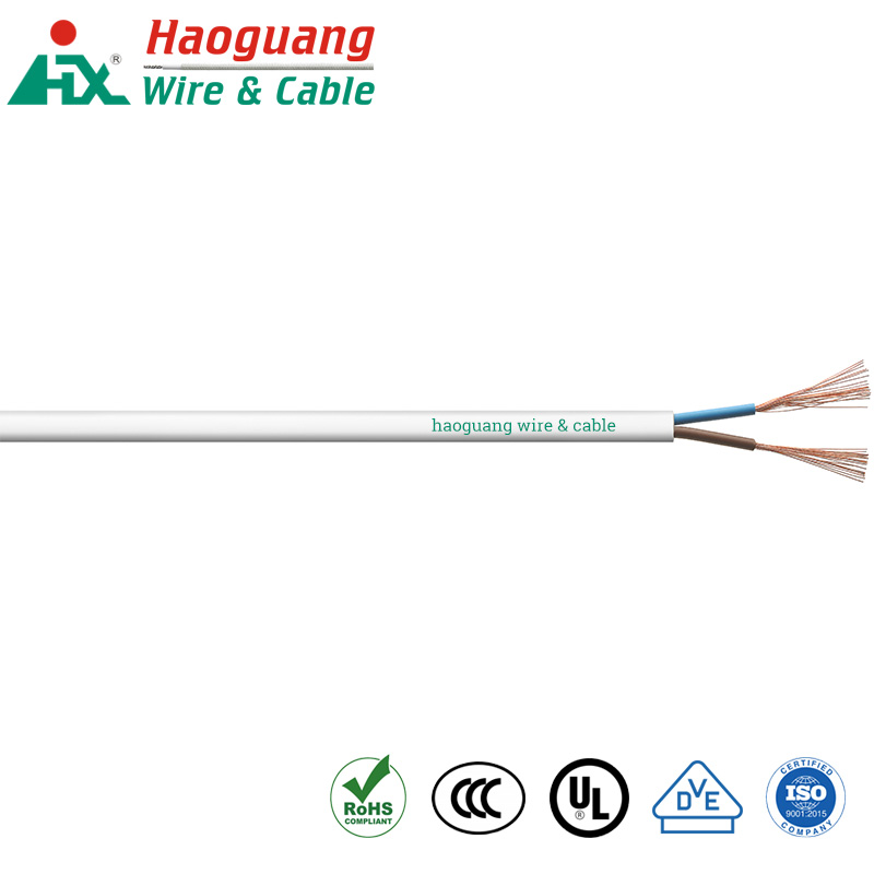 VDE H03VVH2-F PVC Multi Core 300V Power Cable
