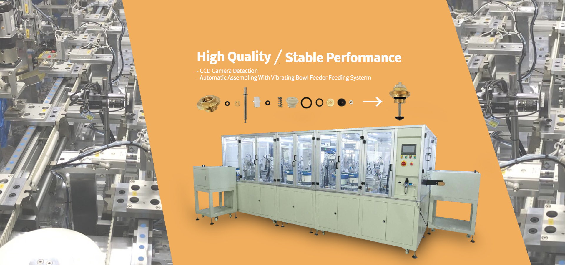 Spool Copper Valve Automatic Assembly Line