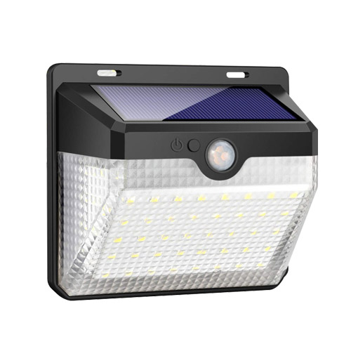 1.2W 60 LED Solar Motion Sensor Wall Light