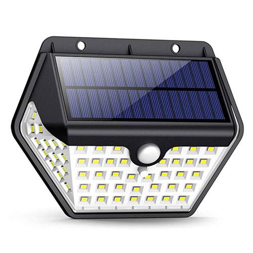 1W 60 LED 太陽 モーション センサー 壁 光