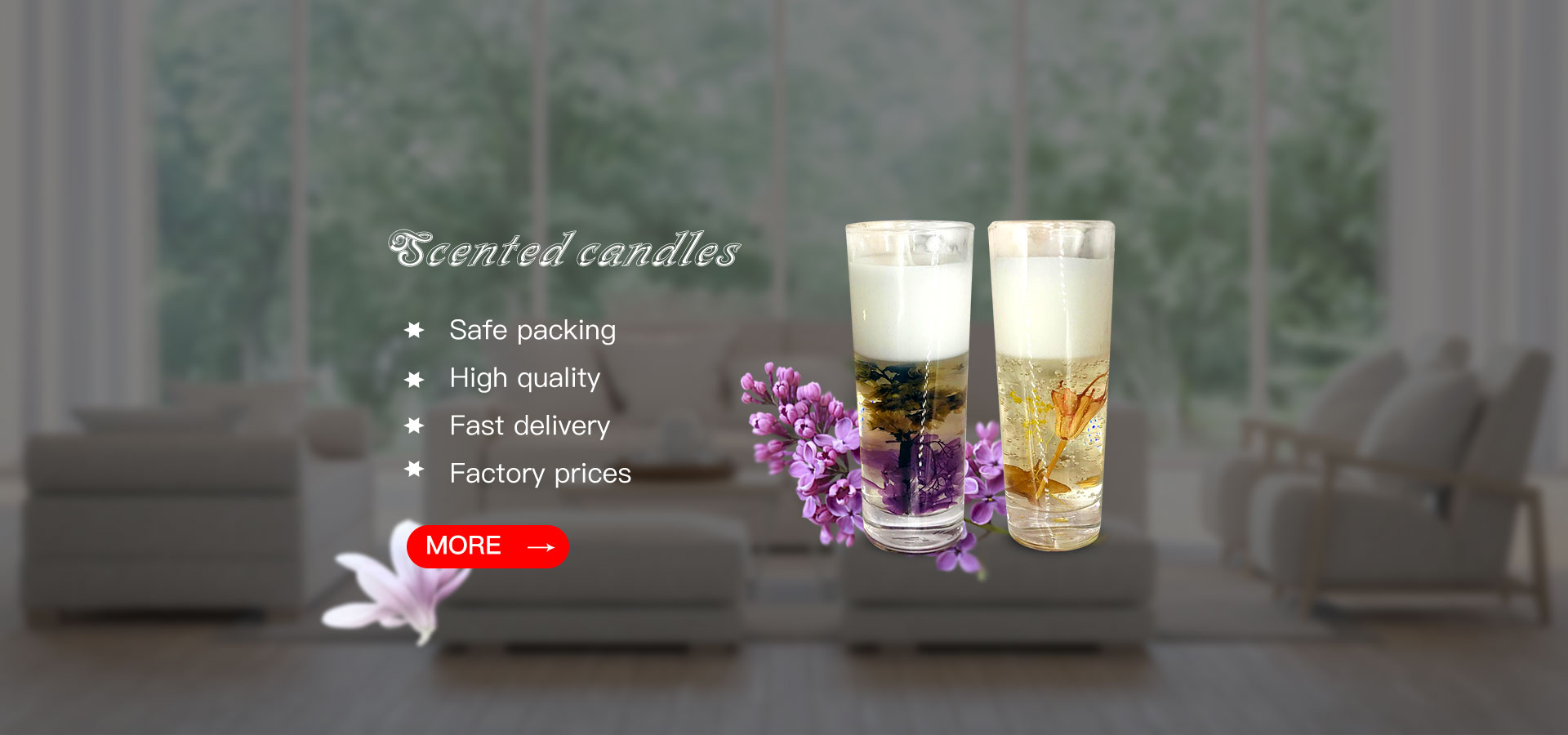 Fragranced Glass Candle