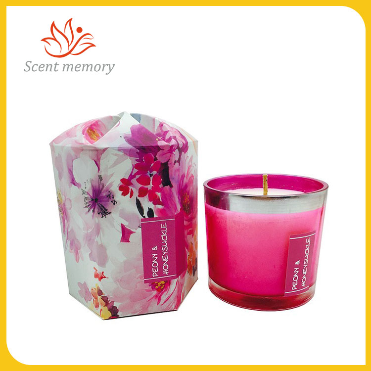 Floral Scented Glass Candle