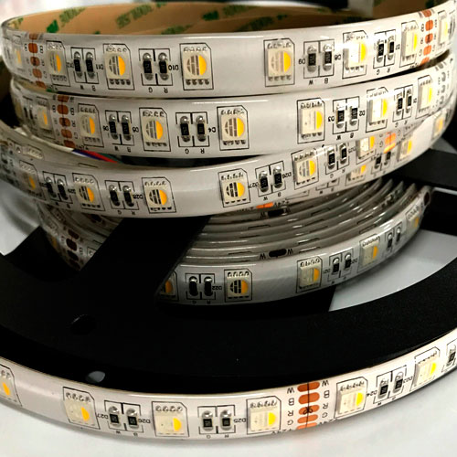 5050 Rgbw Strip Light LED-Bandbeleuchtung 24V 12V