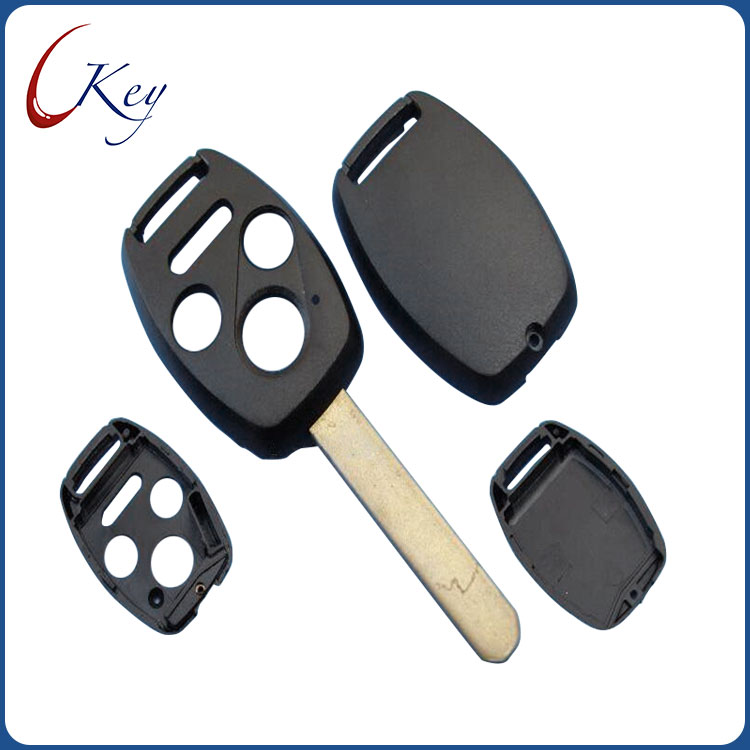 3+1 Buttons Replacement Remote Car Key Shell Fob Case For Honda No Logo