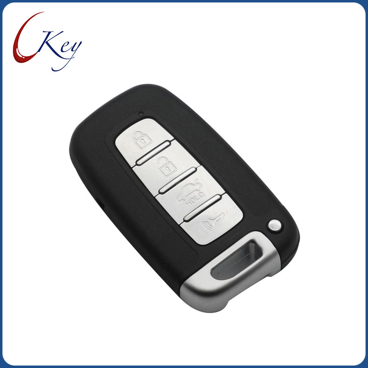 4 Buttons Remote Car Key Shell Smart Keyless Entry Fob for Hyundai Genesis Coupe Sonata Elantra Veloster
