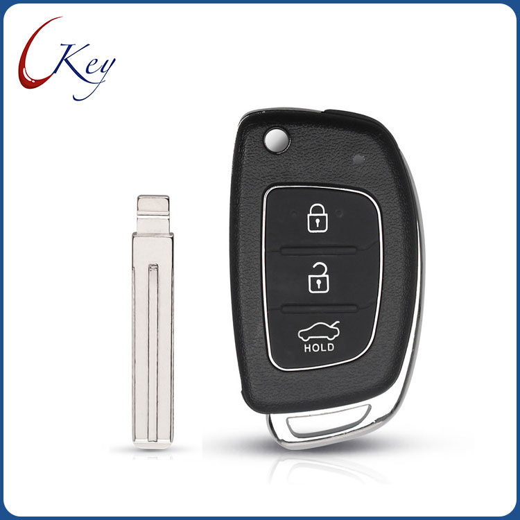 Replacement 3 Buttons Remote Key Fob Car Key Case Cover Styling for Hyundai IX35 i20 Uncut Blade key shell
