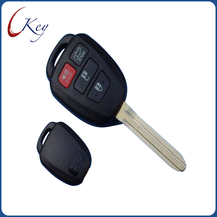 4 Buttons Replacement Remote Car Key Shell Fob Case For Toyota Corolla RAV4 No Logo