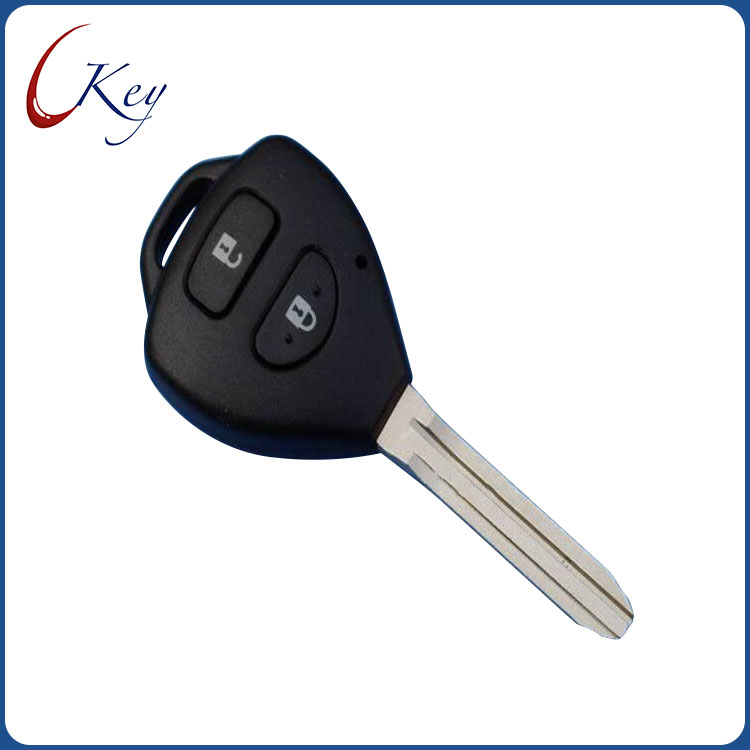 2 Buttons Replacement Remote Car Key Shell Fob Case For Toyota Corolla RAV4 No Logo